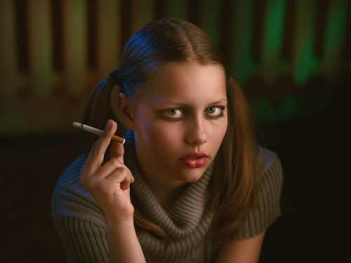 young person smoking