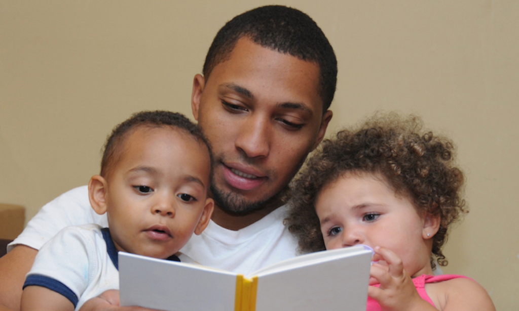 Fathers reading