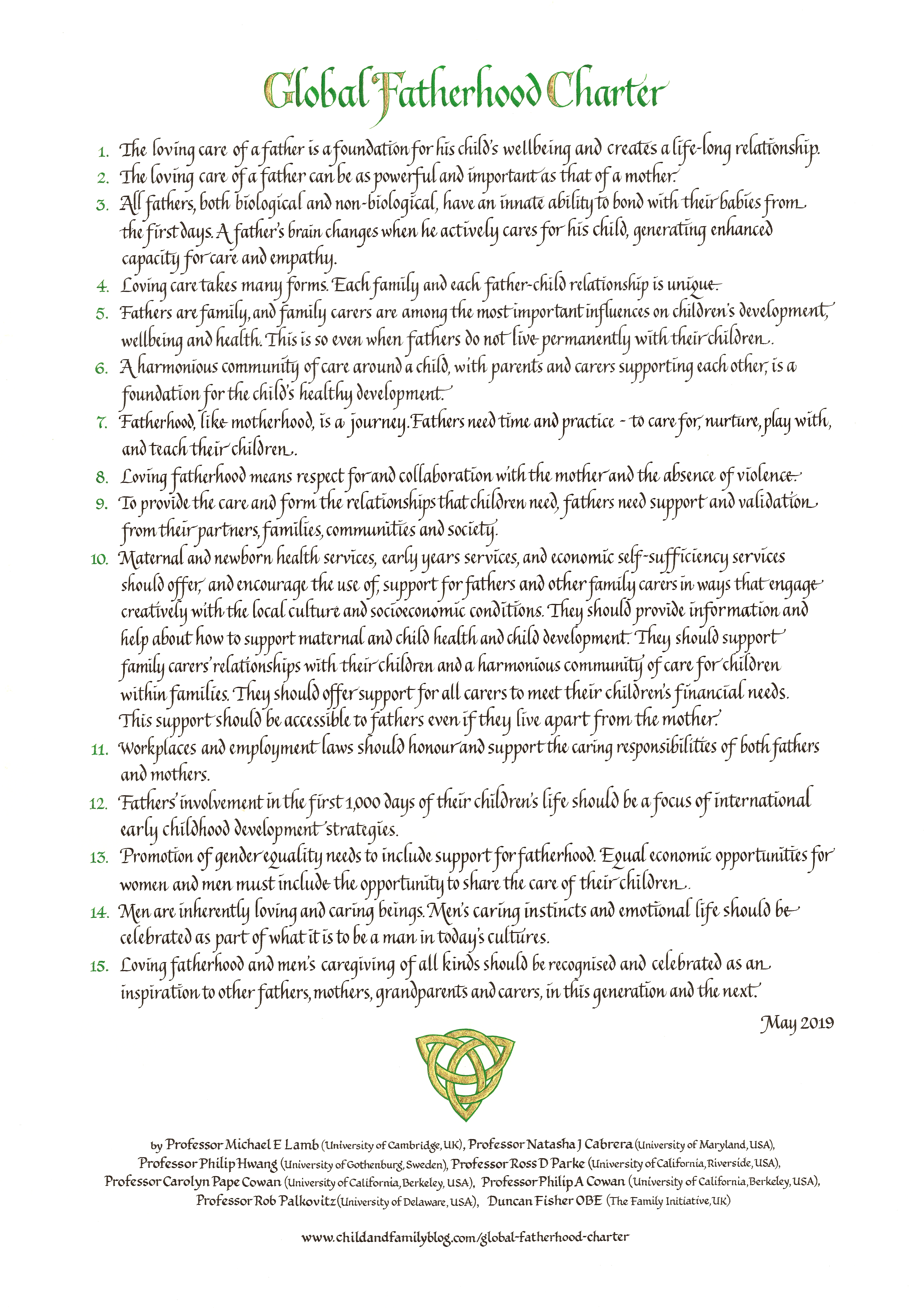 Global Fatherhood Charter